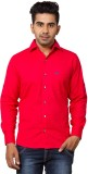 Nauhwar Men's Solid Casual Red Shirt