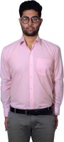Sky Heights Formal Shirts (Men's) - Sky Heights Men's Solid Formal Pink Shirt