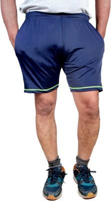 HPS Sports Solid Men & Women Blue, Light Green Sports Shorts at flipkart