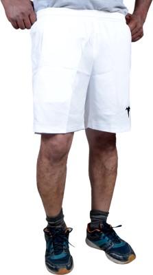 HPS Sports Solid Men & Women White Sports Shorts at flipkart