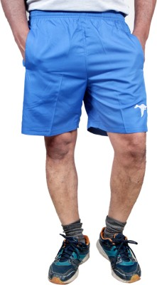 HPS Sports Solid Men & Women Light Blue Sports Shorts at flipkart