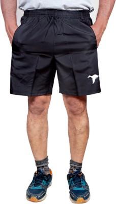HPS Sports Solid Men & Women Black Sports Shorts at flipkart