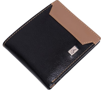 Gentleman Men Black Genuine Leather Wallet(3 Card Slots)
