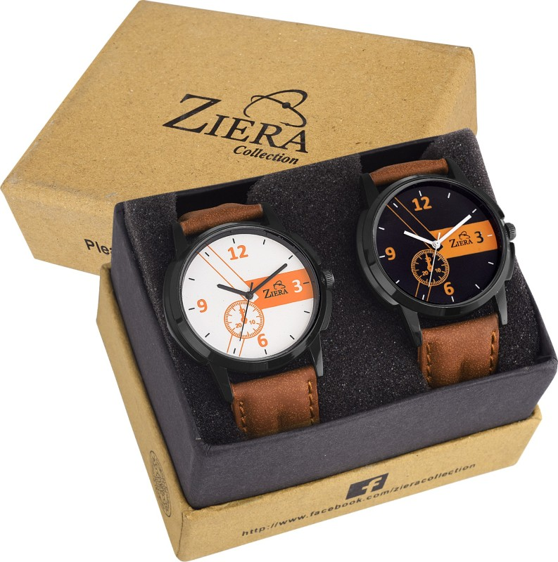 Ziera ZR7027 7028 Men Superior Combo Modish Analog Watch For M
