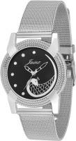 JAINX JW560 P Cock Black Dial Analog Watch For Women