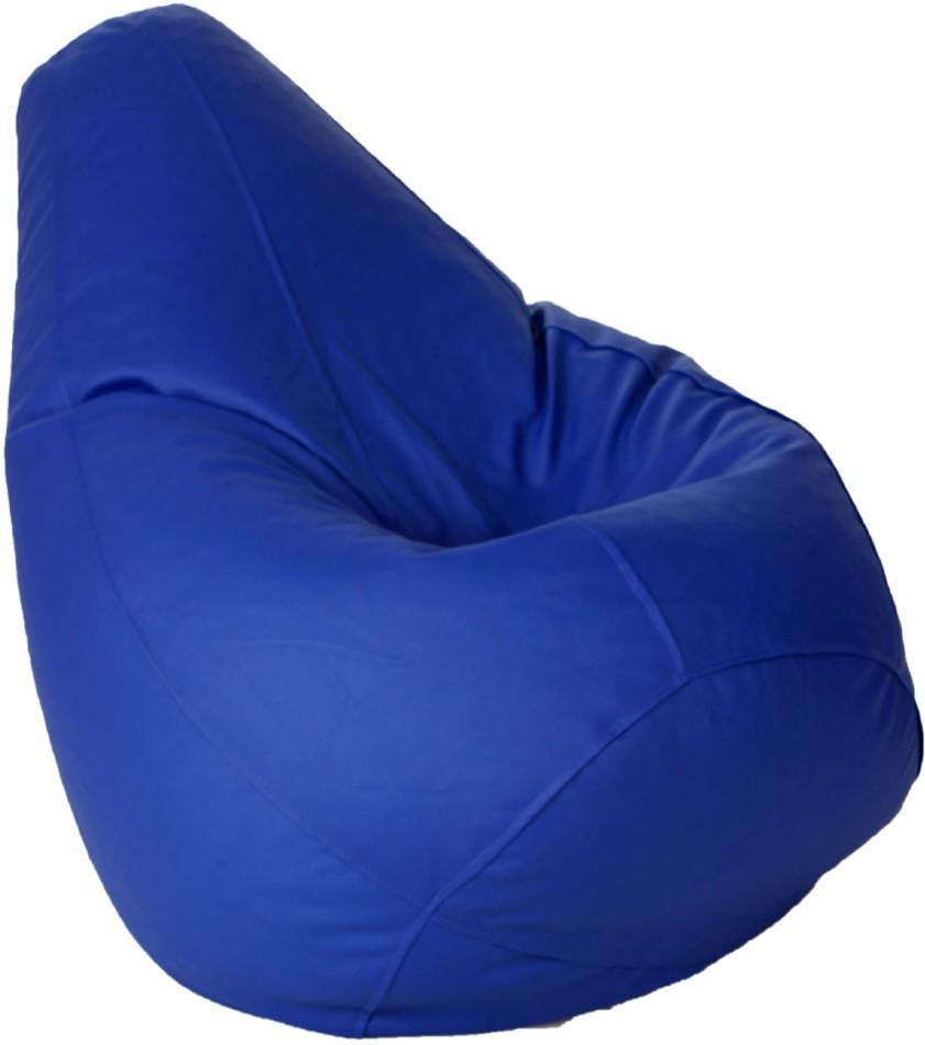View Kainaat Fashion Large Bean Bag Cover(Blue) Furniture (Kainaat Fashion)