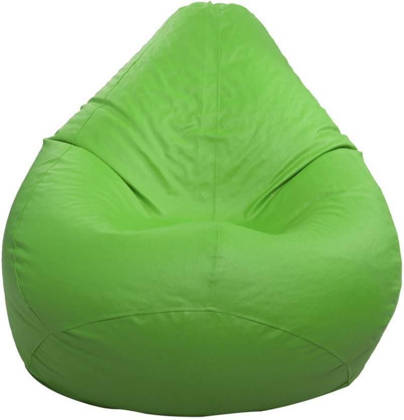View Kainaat Fashion Large Bean Bag Cover(Green) Furniture (Kainaat Fashion)