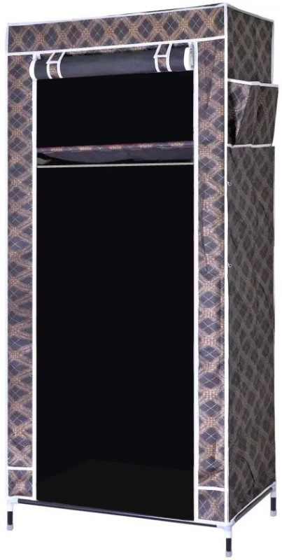 Evana Carbon Steel Collapsible Wardrobe(Finish Color - Black)