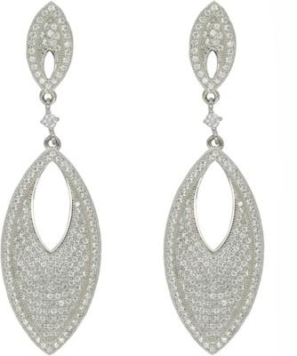 Glitz Design Glitz Design Marquis Drop Earrings Cubic Zirconia Sterling Silver Drop Earring at flipkart