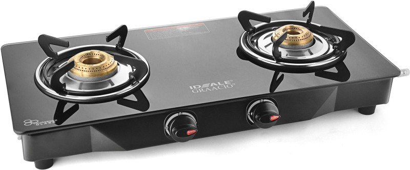 iDEALE UNO Steel Manual Gas Stove(2 Burners)