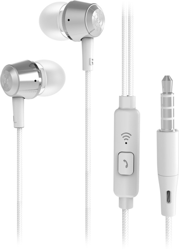 Flipkart SmartBuy Wired Metal Headset With Mic(Silver)