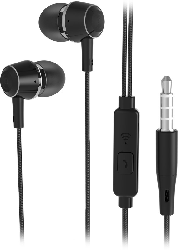 Flipkart SmartBuy Wired Metal Headset With Mic(Black)