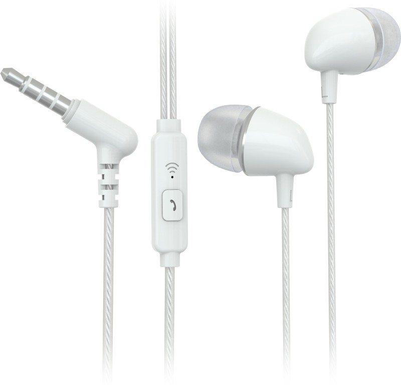Flipkart SmartBuy Wired Headset With Mic(White)
