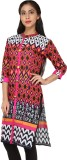 Ceil Casual Printed Women's Kurti (Multi...