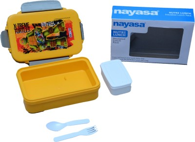Nayasa high grade super insulated Nutri (yellow) 1 Containers Lunch Box(1000 ml)