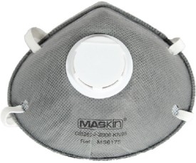 Clair Filters Maskin N95 Pollution Mask with Carbon Filter N95 6175 Pack of 1 Mask and Respirator