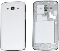 DELMOHUT Replacement Full Body Housing Panel Face Plate For Samsung Galaxy Grand 2 White Back Panel