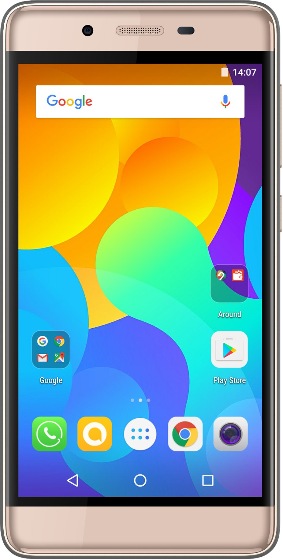 View Micromax Evok Power (Champagne, 16 GB)(2 GB RAM) Mobile Price Online(Micromax)
