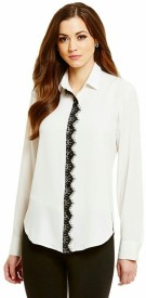 Shaper Girls Solid Casual White Shirt