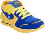 DAKON Blue Yellow Walking Shoes (Blue)