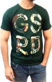 myfizi Printed Men's Round Neck Green T-...