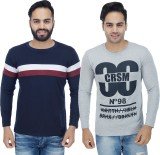 Rakshita Collection Solid Men's Round Ne...