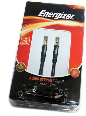 Energizer Premium 3.5mm Male to Male Long Auxiliary Audio AUX Cable(Black)