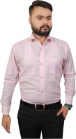 Ladida Formal Shirts (Men's) - Ladida Men's Solid Formal Pink Shirt
