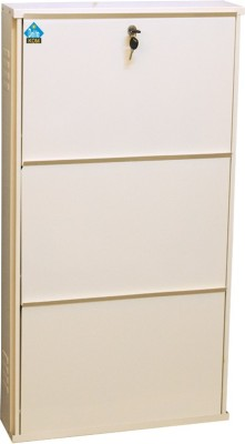 Delite Kom Metal Shoe Cabinet(White, 3 Shelves)