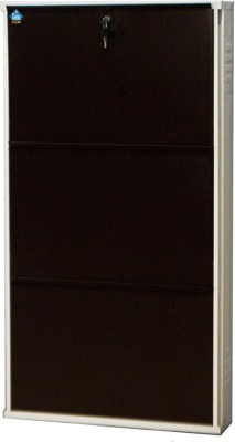Delite Kom Metal Shoe Cabinet(Brown, 3 Shelves)