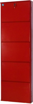 Delite Kom Metal Shoe Cabinet(Red, 5 Shelves)