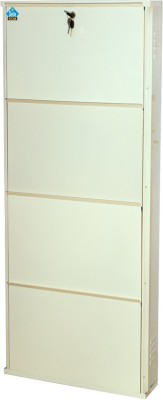 Delite Kom Metal Shoe Cabinet(White, 4 Shelves)