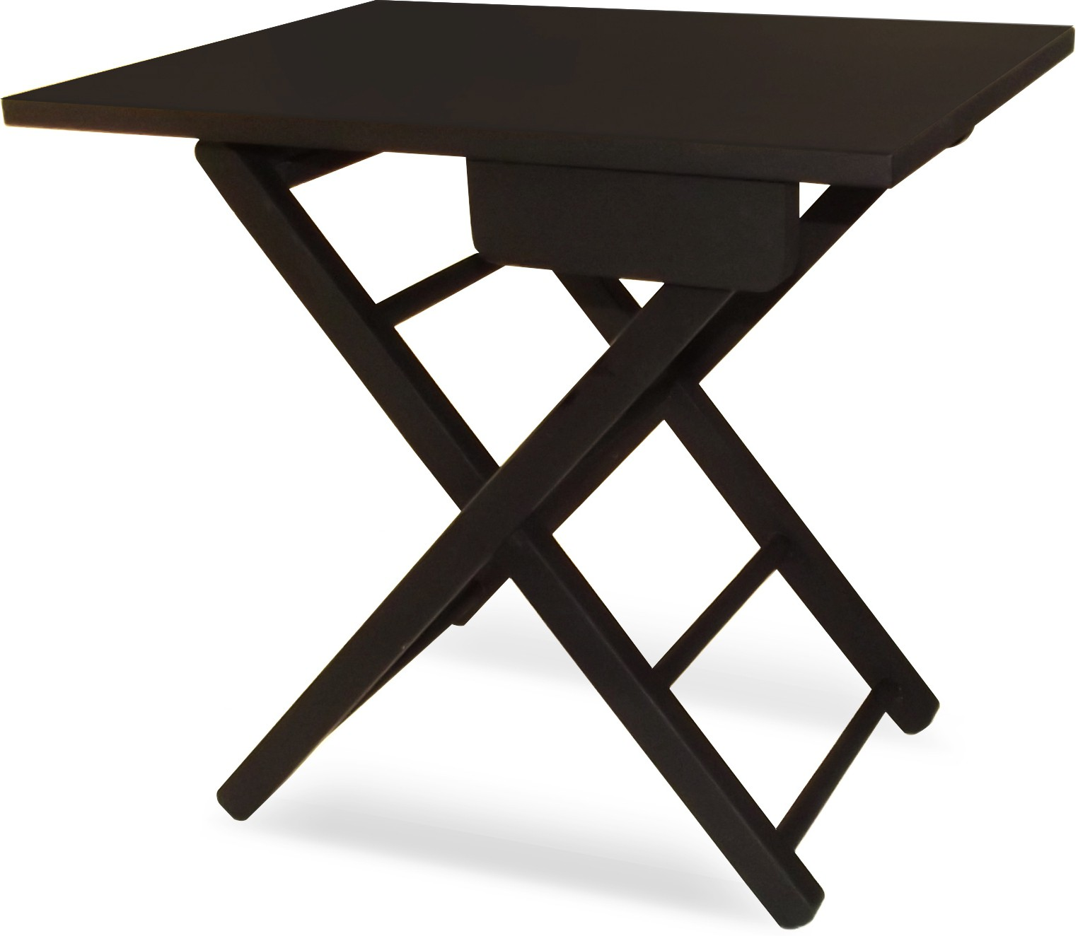 View Colorwood Lara Foldable Solid Wood Side Table(Finish Color - Black) Furniture (Colorwood)