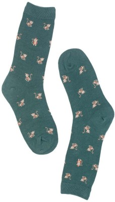 The Tie Hub Mens Animal Print Mid-calf Length Socks