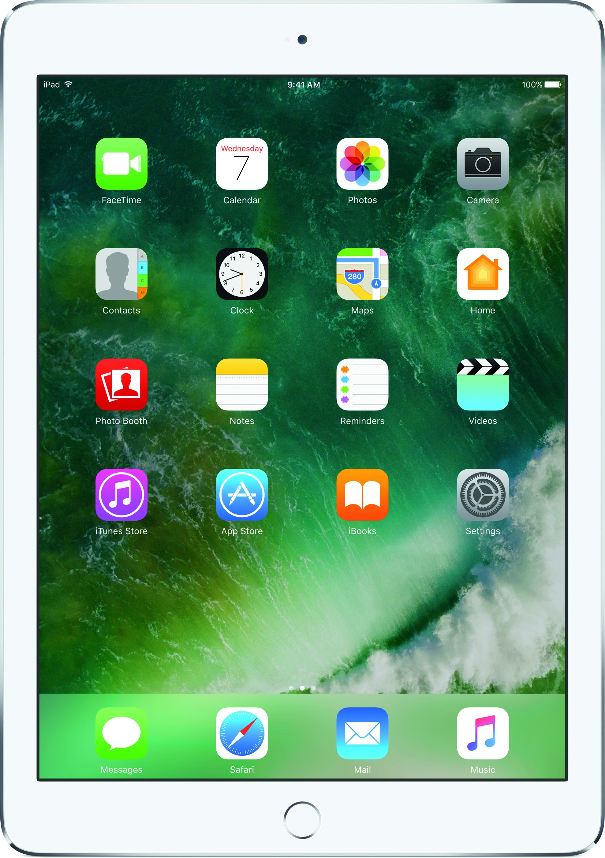 View Apple iPad 128 GB 9.7 inch with Wi-Fi Only(Silver) Tablet Note Price Online(Apple)