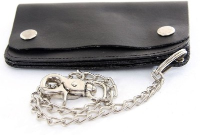 Holboro Men Black Genuine Leather Wallet(1 Card Slot)