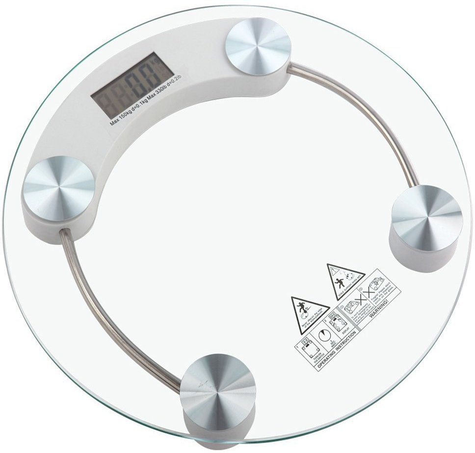 Cierie Thick And tempered glass Electronic Weighing Scale(White, Silver)