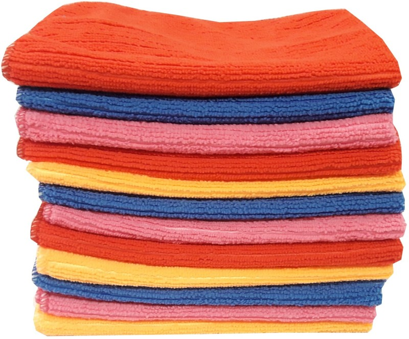 Welhous Cotton Face Towel Set(Pack of 12, Multicolor)