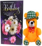 Saugat Traders Teddy With Birthday Greet...