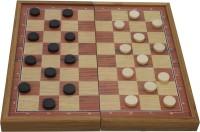SSB Magnetic 3in1 wooden 1 inch Chess Board(Beige)