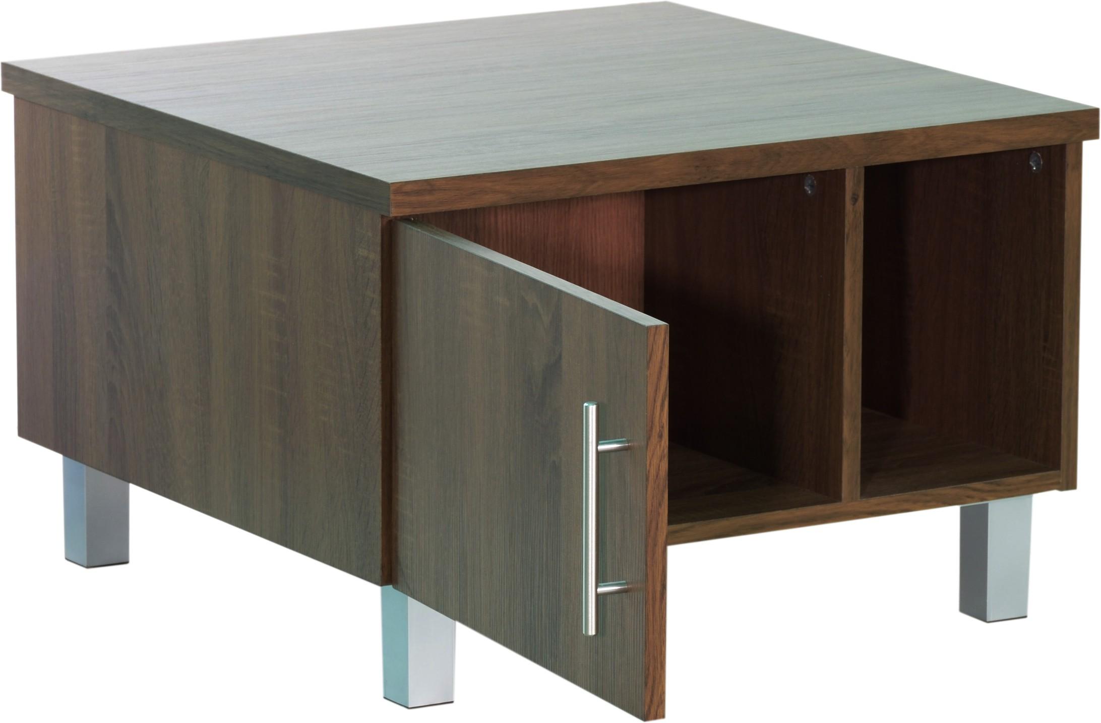 View homestock Engineered Wood Coffee Table(Finish Color - Walnut Brown) Furniture (HOMESTOCK)