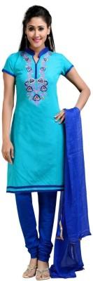 Pickurs Chanderi Embroidered Semi-stitched Salwar Suit Dupatta Material at flipkart