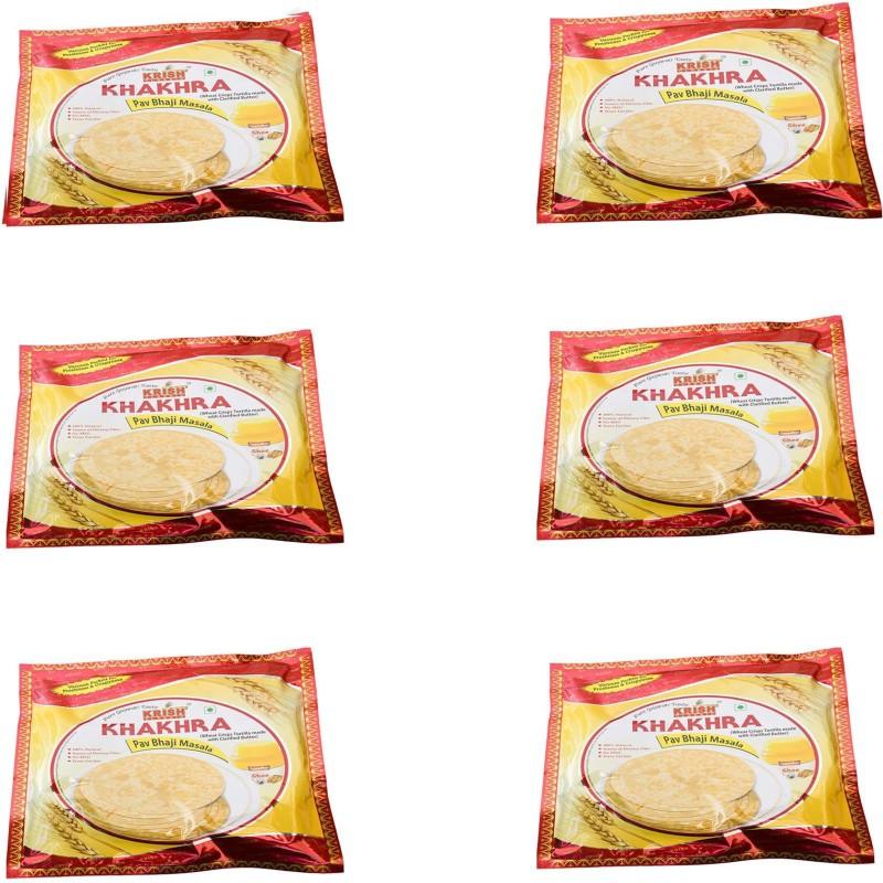 Krish Classic PAV BHAJI MASALA Khakhra 1.2 kg(Pack of 6)