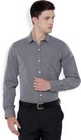 Mark Taylor Formal Shirts (Men's) - Mark Taylor Men's Checkered Formal Grey Shirt