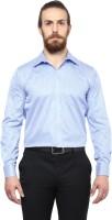 Copperline Formal Shirts (Men's) - Copperline Men's Striped Formal Blue Shirt