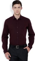 Black Coffee Formal Shirts (Men's) - Black Coffee Men's Solid Formal Maroon Shirt