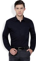Black Coffee Formal Shirts (Men's) - Black Coffee Men's Solid Formal Dark Blue Shirt