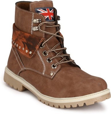 Eego Italy Stylish and Trendy Boots(Brown)