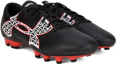 Under Armour CF Force 2.0 FG Football Shoes(Black, White) at flipkart