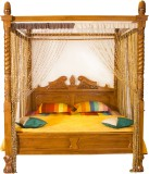 Woodpecker Solid Wood King Bed (Finish C...